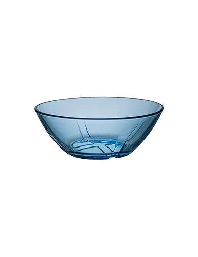 Kosta Boda Bruk Water Blue Crystal Bowl, Set of Four