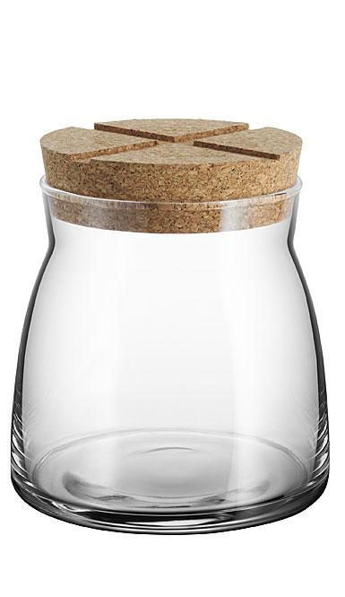 Kosta Boda Bruk Jar with Cork Clear, Medium