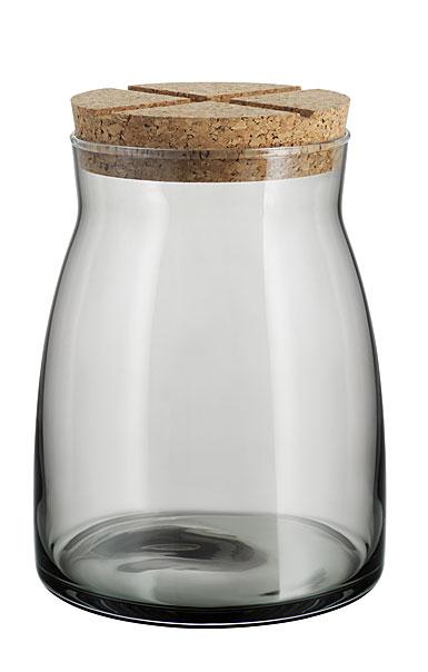Kosta Boda Bruk Jar with Cork Grey, Large