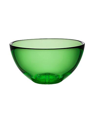 Kosta Boda Bruk Crystal Serving Bowl, Apple Green