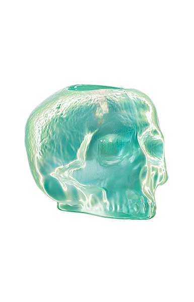 Kosta Boda Still Life Skull Crystal Votive, Light Green