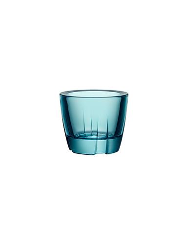 Kosta Boda Bruk Crystal Votive Sea Turquoise Anything Crystal Bowl, Pair