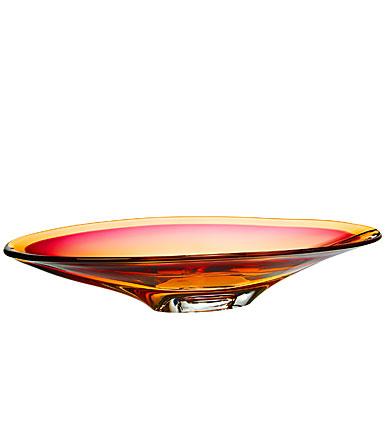Kosta Boda Vision Dish, Pink/Amber