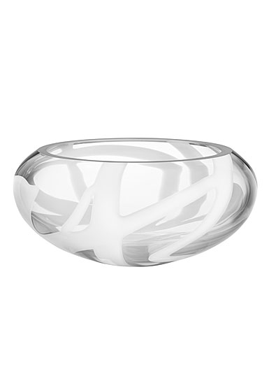 Kosta Boda White Globe Crystal Bowl