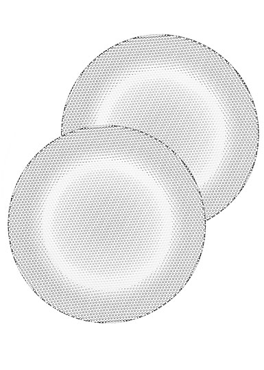 Kosta Boda Limelight Crystal Side Plates, Pair