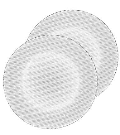 Kosta Boda Limelight Crystal Dinner Plates, Pair