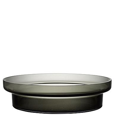 Kosta Boda Limelight Low Bowl Grey