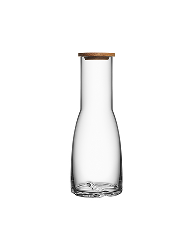 Kosta Boda Bruk Crystal Carafe with Oak Lid, Clear