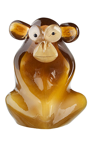 Kosta Boda Wide Life Shock the Monkey Sculpture