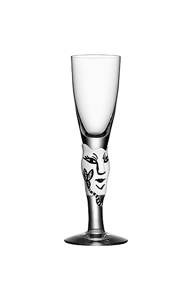 Kosta Boda Open Minds Shot Glass, White, Single