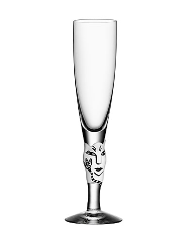 Kosta Boda Open Minds Crystal Champagne, White, Single