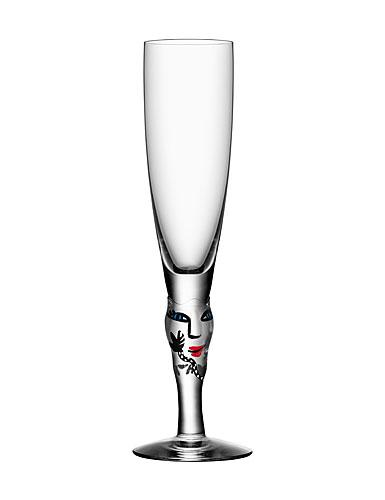 Kosta Boda Open Minds Champagne, Clear, Single