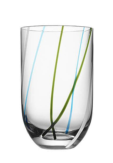 Kosta Boda Contrast Multi Color Tumbler, Single