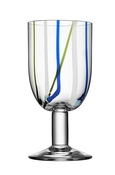 Kosta Boda Contrast Multi Color Wine Glass