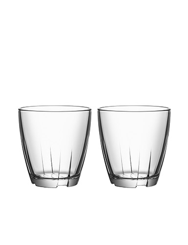 Kosta Boda Bruk Small Clear Tumbler, 2 pairs BUNDLED