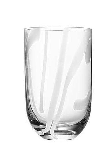 Kosta Boda Contrast Tumbler Glass, White