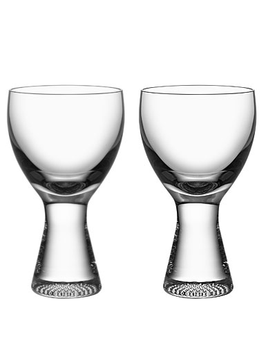 Kosta Boda Limelight Crystal Wine Glasses, Pair