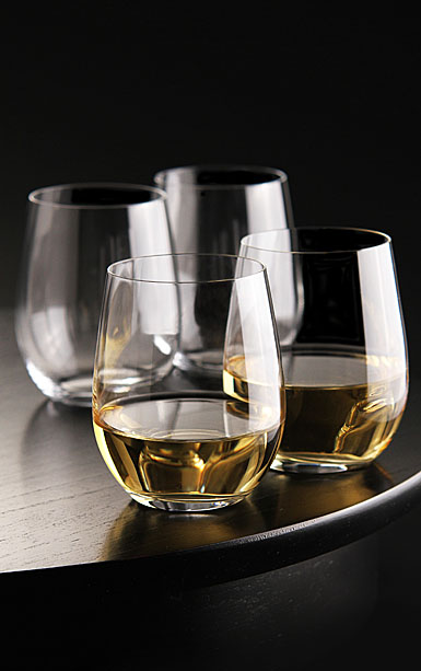 Riedel O Stemless Chardonnay, Viognier Buy 3 + 1 Free Wine Glass Set