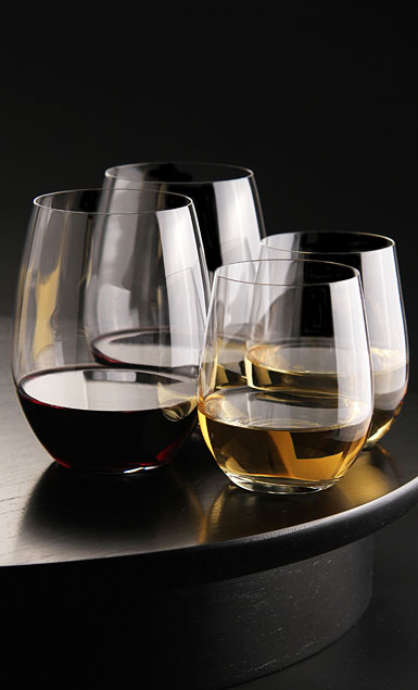 Riedel O Stemless, 2 Cabernet, 2 Chardonnay Glass - Buy 3 Get 1 Crystal Wine Glasses, Set