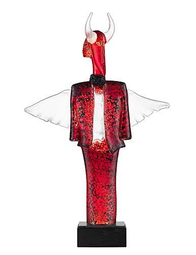Kosta Boda Art Glass, Kjell Engman Check Man Red Limited Edition