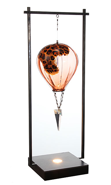 Kosta Boda Art Glass Kjell Engman Luftballong Leopard, Limited Edition of 60