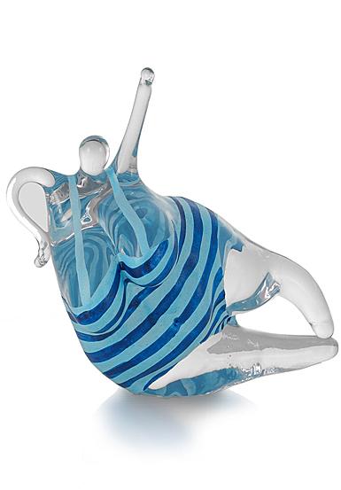Kosta Boda Happiness Turquoise, Blue Figure
