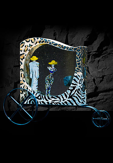 Kosta Boda Kjell Engman African Wagon Limited Edition of 1 Piece