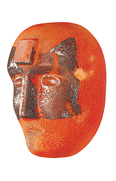 Kosta Boda Art Glass Bertil Vallien Look In Orange, Limited Edition