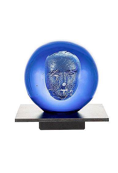 Kosta Boda Headman Blue AC -20 Sculpture by Bertil Vallien