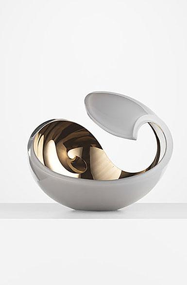 Kosta Boda Art Glass Lena Bergstrom Pale Blue Swirl Limited Edition