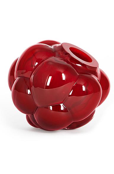 "Kosta Boda Berry Tales 7"" Vase Ruby"