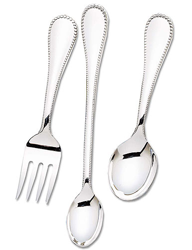 Reed & Barton Classic Bead Sterling 3-Piece Baby Set