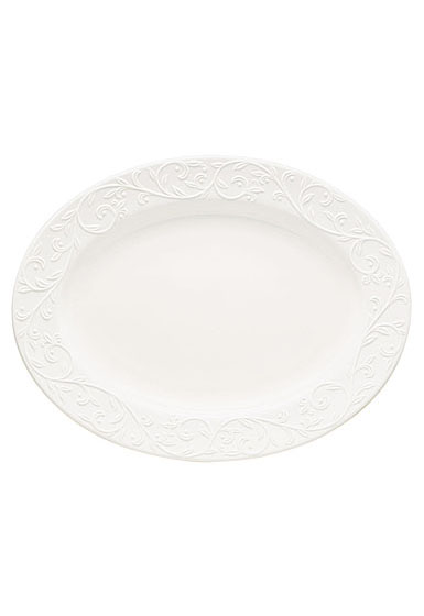 Lenox Opal Innocence Carved Dinnerware Oval Platter