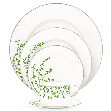 ... Lenox China kate spade Gardner Street Platinum 5 Piece Place Setting  sc 1 st  Crystal Classics & kate spade new york by Lenox Gardner Street Platinum China