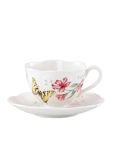 Lenox Butterfly Meadow Dinnerware Tiger Cup And Saucer
