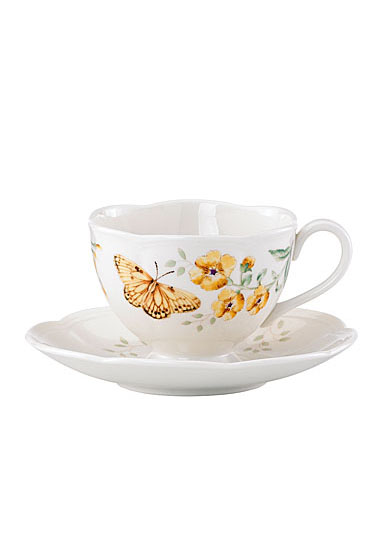 Lenox Butterfly Meadow Dinnerware Fritillary Cup And Saucer