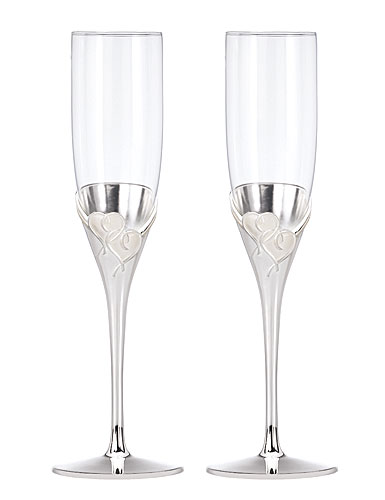 Lenox True Love Toasting Flutes Pair