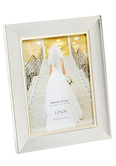 "Lenox Jubilee Pearl 8"" x 10"" Picture Frame"