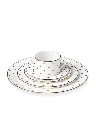 Kate Spade China by Lenox, Larabee Rd Platinum 5 Piece Place Setting