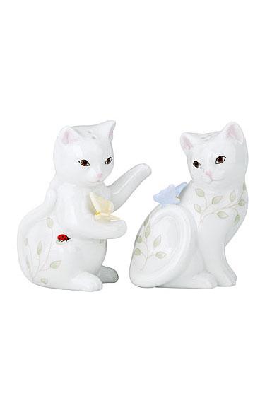 Lenox Butterfly Meadow Dinnerware Figurine Kitten Salt And Pepper