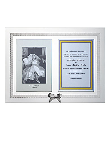 kate spade new york by Lenox Grace Avenue Double Invitation Frame
