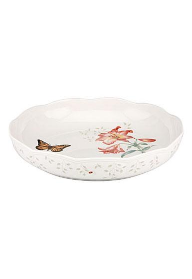 Lenox Butterfly Meadow Dinnerware Low Serving Bowl
