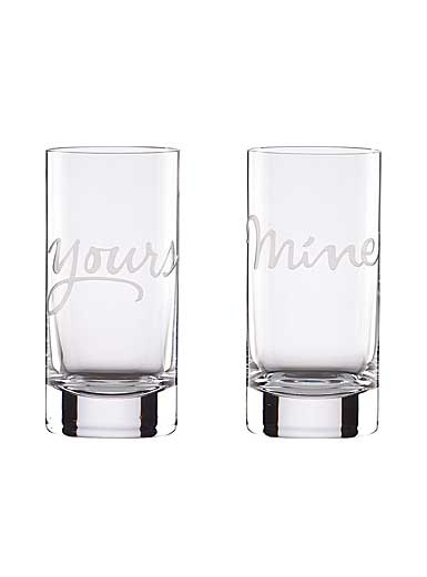 Lenox kate spade, Two of A Kind Mine and Yours Crystal Hiball, Pair