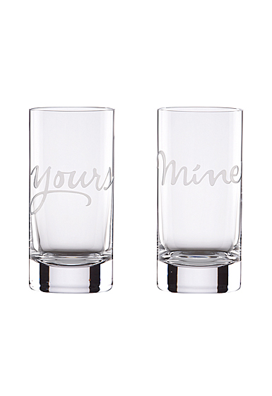 Kate Spade New York, Lenox Two of A Kind Mine and Yours Crystal Hiball, Pair