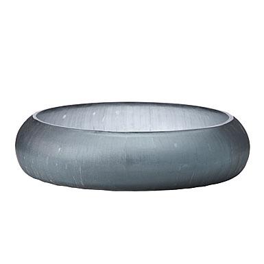 Donna Karan Lenox Artisan Glass, Glacier, Etched Low Bowl