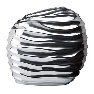 Donna Karan Lenox Sculpted Metal, Round Vase