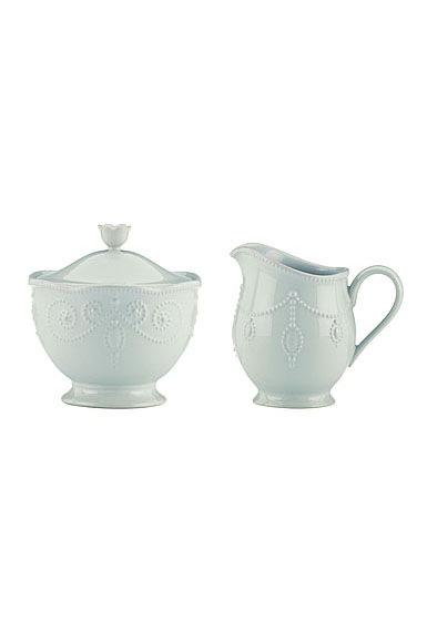 Lenox French Perle Blue Dinnerware Sugar And Cream
