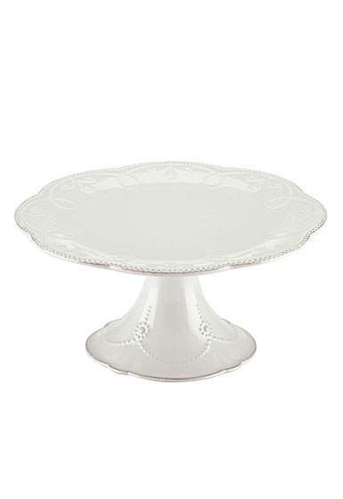 Lenox French Perle White Dinnerware Pdstl Cake Plate Md