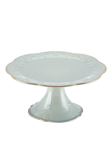 Lenox French Perle Blue Dinnerware Pdstl Cake Plate Md