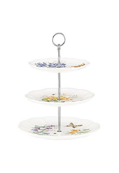 Lenox Butterfly Meadow Dinnerware 3 Tiered Server